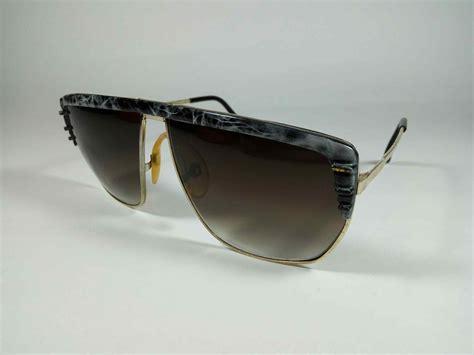 Kacamata Gold kacamata hitam sunglasses vintage jadul antik original oversize ceramics gold blue