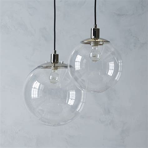 Clear Globe Pendant Light Globe Pendant West Elm Modern Lighting