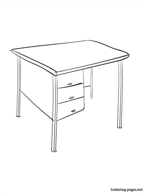 Coloring Desk For by Coloring Page Desk Coloring Pages