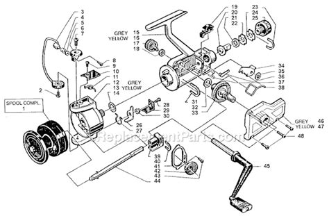 abu garcia parts diagrams abu garcia 353 parts list and diagram 86 0