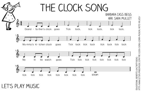 song with name free the clock song an easy way to learn musical note values