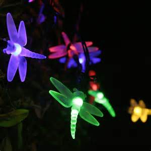 solar powered dragonfly lights lights4fun 30 multi coloured led dragonfly solar garden