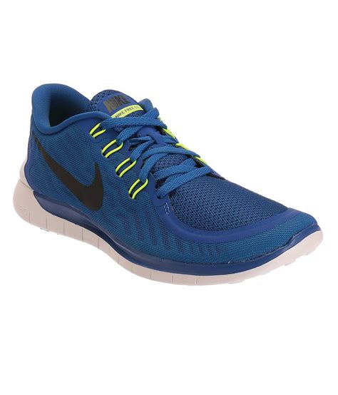 nike free 5 blue and black sports shoes available at