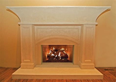custom concrete fireplace hearth surround and mantel by