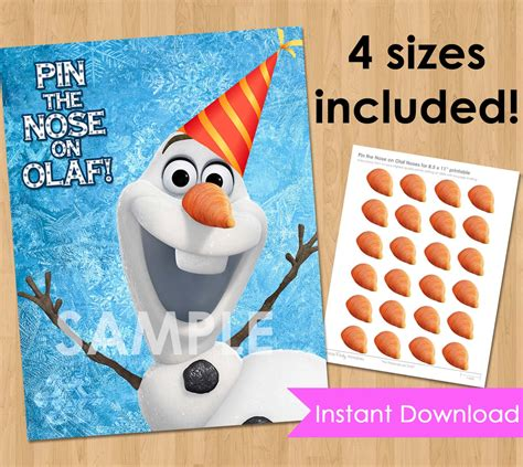 printable olaf birthday decorations disney frozen birthday party printable instant download pin
