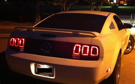 mustang tail lights 2005 mustang tail lights 2013 style ford mustang forum