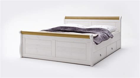 bett oslo komfortbett oslo bett aus kiefer massiv wei 223 antik 180x200cm