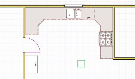 Design My Kitchen Layout Small U Shaped Kitchen Layout Ideas Afreakatheart