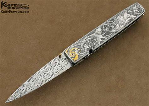 kelly carlson custom knife tim george engraved icicle linerlock knife purveyor com llc yhdysvallat usa new knives