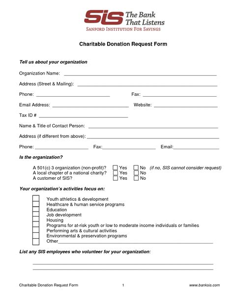 non profit donation form template best photos of non profit donation request template non