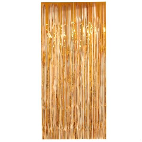 tinsel door curtain curtain tinsel foil 90 x 200cm orange pk1 tinsel werks