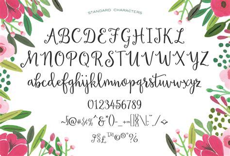 Handmade Script Font - sweet peony handmade script by emily spadoni