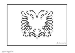 Albanian Flag Outline by Malvorlage Albanien Ausmalbild 6364