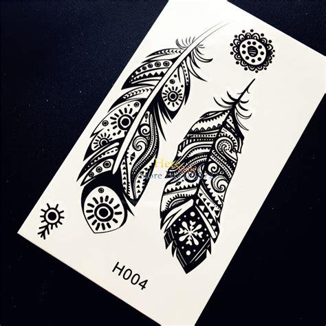 black typical tattoo sticker buy tattoo sticker body black indian tribal feather totem temporary tattoo sticker