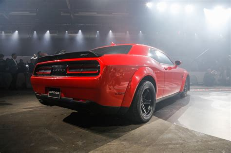 dodge challenger demon refreshing or revolting 2018 dodge challenger srt demon