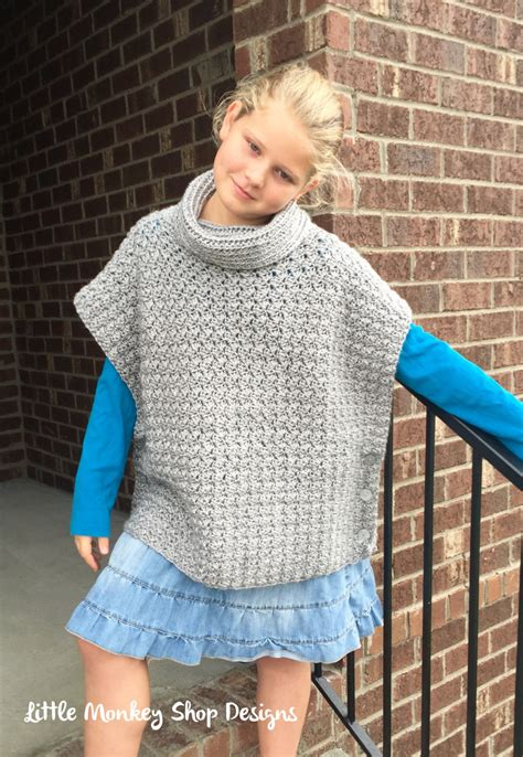 how to knit a poncho crochet pattern for child s poncho crochet and knit