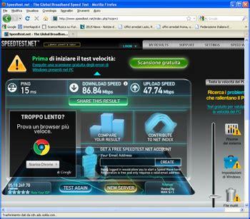 test rete adsl test velocit 224 adsl chiccheinformatiche