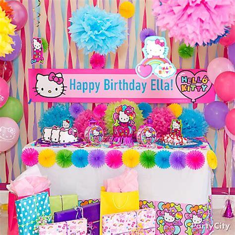 hello kitty party themes hello kitty gift table idea party city