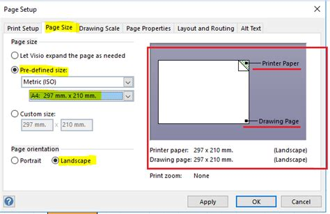 resize visio drawing to fit page printing resize visio drawing to fit paper size and
