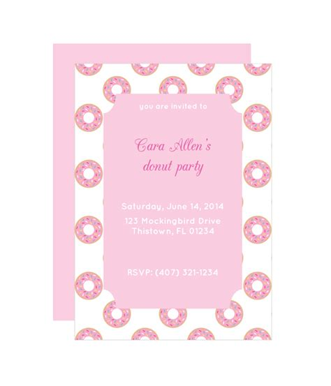 Donut Party Invitation Chicfetti Donut Invitation Template