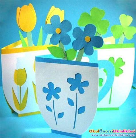 Flower Mug Card Template by 199 I 231 Ek S 252 Sl 252 Fincan Kart Okul 214 Ncesi Etkinlikleri