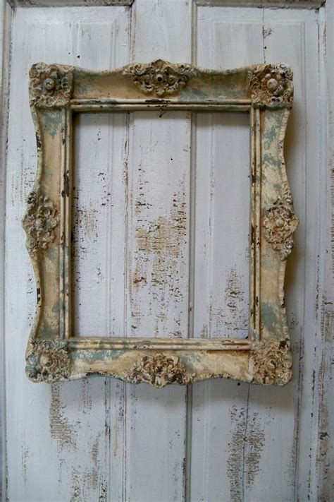 weathered ornate picture frame large shabby chic cottage