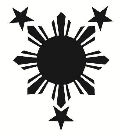 3 stars and a sun tattoo tribal philippine sun philippines