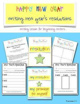 write new year s resolutions cloze sentences lesson