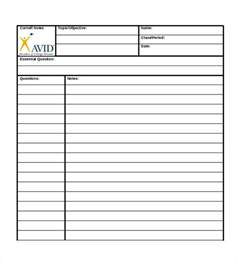 Note Taking Templates by Doc 585680 Cornell Note Taking Template Cornell Notes