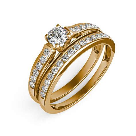 imagenes de anillos de matrimonio en oro blanco sofia set de anillos de matrimonio en oro amarillo 10kt