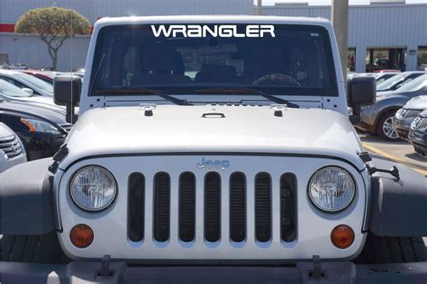 jeep windshield stickers jeep wrangler yj style windshield decal for your jeep