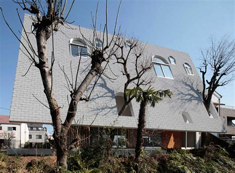 A Japanese House With A Steep Roof Steep Pitched Roof House Plans