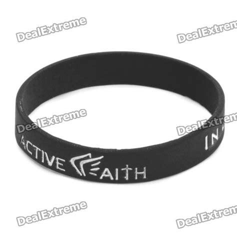 "Fashion Jeremy Lin Style ""in Jesus Name I Play"" Silicone Energy Bands Bracelet   Black   Free"