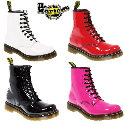 dr martens classic 8 eye 1460 patent leather ankle lace up
