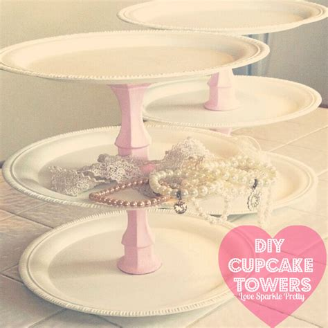 dollar tree diy projects sparkle pretty diy cupcake towers dollar
