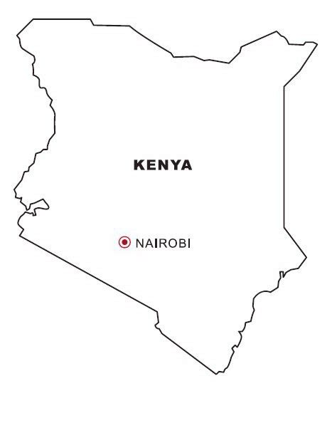 kenya coloring pages coloring pages