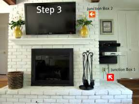 how to hide tv wires brick fireplace how to mount a tv on a brick fireplace on sutton place