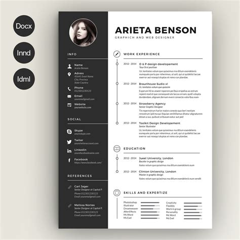 template resume freepik resume template free templates word custom cv psd