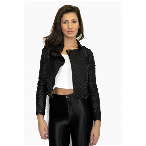 Quilted Faux Leather Jacket by Faux Leather Quilted Jacket