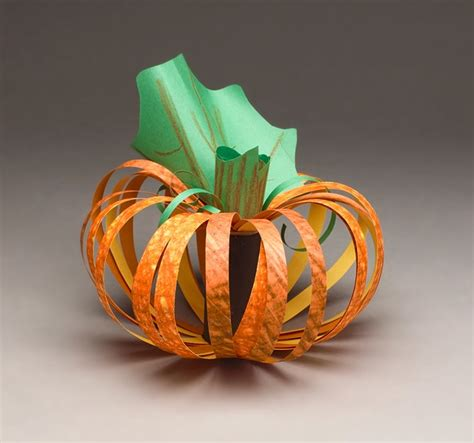 Paper Pumpkin Crafts - paper pumpkin craft crayola