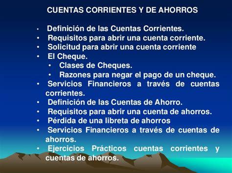 la cuenta corriente cuenta de ahorros ifis capitulo iii