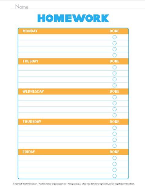 printable homework graphic organizer organize the week homework organizer e is for enrichment