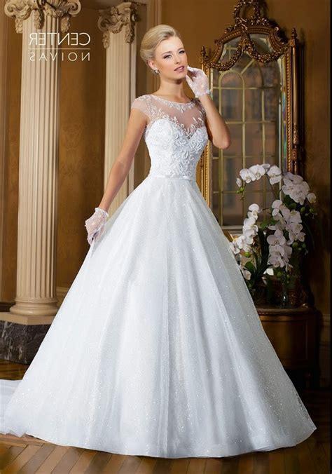 beaded cap sleeve wedding dress gown sheer neckline cap sleeve tulle beaded wedding