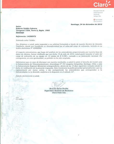 carta de retiro claro claro modificaci 243 n de datos de contratos de prestaci 243 n de servicios por parte de vendedores