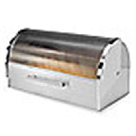 bread boxes bed bath and beyond buy oggi stainless steel glass roll top bread box from