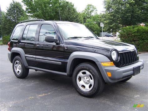 black jeep liberty 2005 black clearcoat 2005 jeep liberty sport 4x4 exterior photo