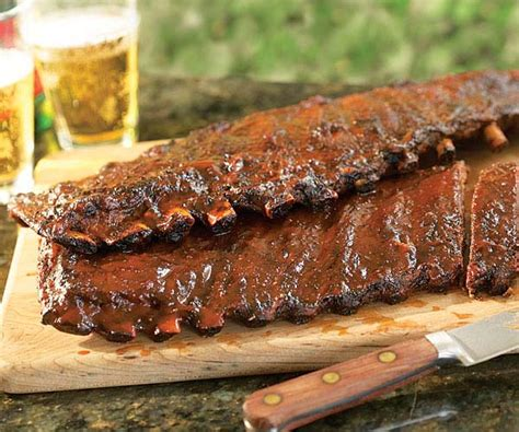 apple bacon barbecued ribs gas grill version recipe finecooking