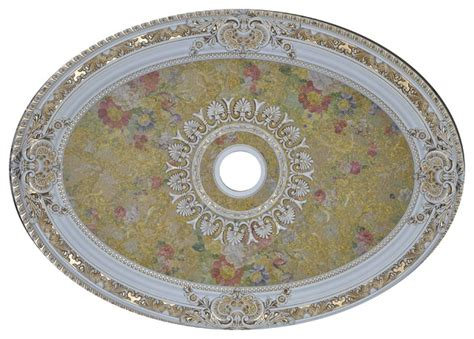 antique white ceiling medallion oval collection