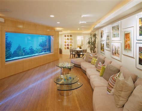 living room aquarium blumenthal aquarium contemporary living room los