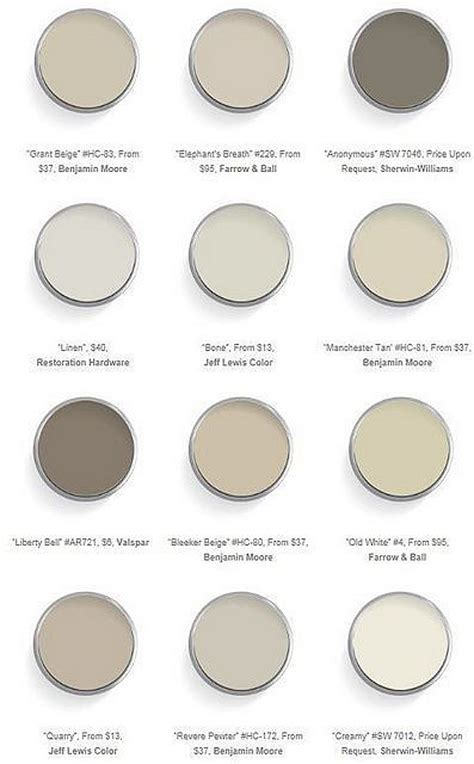 best neutral paint colors interior paint color and color palette ideas with pictures